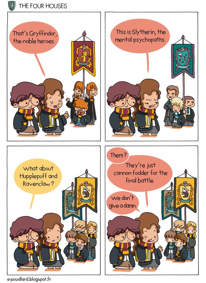 À Poudlard / At Hogwarts Harry Potter Parody: Les quatre